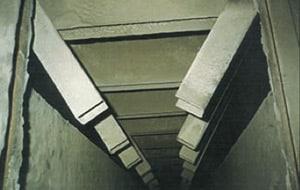 Après utilisation du système Sonoforce®, ramonage acoustique industriel