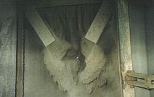 Avant utilisation du système Sonoforce®, ramonage acoustique industriel