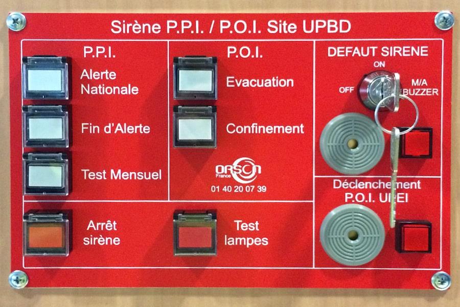 Type de déclenchement pupitre commande radio numérique sécurisée pour sirène PPI POI